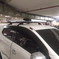 roof rak bagasi atas + cross bar mobil Agya ayla