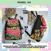 Ransel Thailand Kanvas Backpack, Tas Ransel Import Wanita