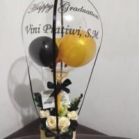 buket balon wisuda graduation valentine birthday