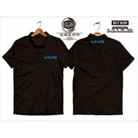 Polo Shirt Kaos Kerah Vivo Smartphone Vendor Logo - Gilan Cloth - Hitam, S