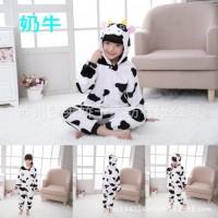 Baju Tidur Piyama Onesie Kostum Cosplay Anak Dewasa Sapi Cow Lucu