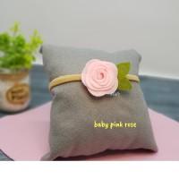 headband bayi balita motif bunga rose