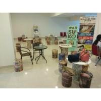 Satriaofficial Kursi Tong / bangku / sofa Kaleng Tin Stool untuk kursi