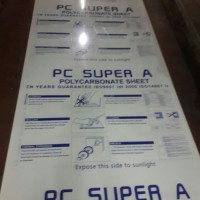 Polycarbonate solid clear 3mm 500 x 1000mm