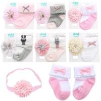 Headband & Socks Set/ Bando Bayi/Kaos Kaki Bayi