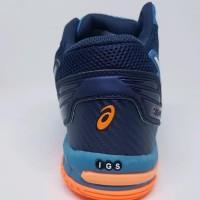 TERLARIS Sepatu Volly Asics Gel Volley Elite Blue Orange Man Murah