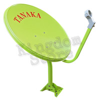 antena parabola dish/disc mini solid 45 CM TANAKA biru /hijau