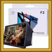 Kaca Pembesar Proyeksi Layar HP/Smartphone 3D Portable F2