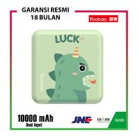 Yoobao M4 Mini Cute Character Power Bank Mini Cube Dual Port 1000mAh - Dino Green