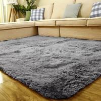 Karpet bulu lembut 150*200 Tebel 4cm - Abu-abu