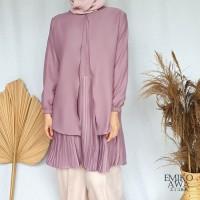 Baju Tunik Wanita Terbaru Zelda Muslimah Atasan Baju Kerja Korea