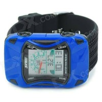 Jam Tangan Anak Digital Analog SKMEI 0961 Blue Water Resistant 30M