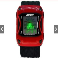 Jam Tangan Anak Digital Analog SKMEI 0961 Red Water Resistant 30M
