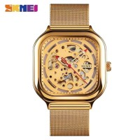 Jam Tangan Pria Analog SKMEI 9184 GOLD WaterResist 30m