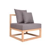 CUBIX SERIES - Kursi Tamu Sofa Modern Minimalis (AL) - XIONCO - Abu-abu, Rangka Gelap