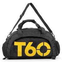 Tas Ransel dan Duffel Gym Bag - T60 - Black