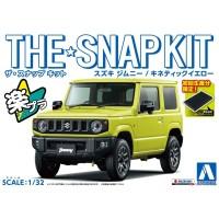 Aoshima The Snapkit Suzuki Jimny (Kinetic Yellow)