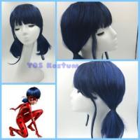 Rambut Palsu Anak Ladybug Aksesoris Wig Biru Cosplay Miraculous Import