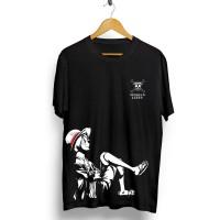 T-shirt Luffy Bored / Baju Kaos Distro Pria Wanita Cotton 30s