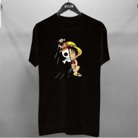 T-shirt Skeleton Luffy / Baju Kaos Distro Pria Wanita Cotton 30s