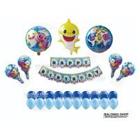 Balon Foil Karakter Baby Shark Set / Balon Foil Baby Shark Set
