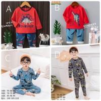 Baju Tidur Anak / Setelan Anak / Piyama Anak Import Laki Laki - Pjg