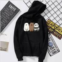 Sweater Hoodie Wanita 'We Bare Bears'|Jaket Cewek Kartun Panda Beruang
