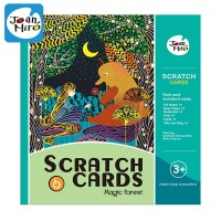 Joan Miro Scratch Card Magic Forest mainan edukasi art craft