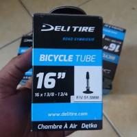 Ban dalam sepeda 16 x 1 3/8 presta Deli tire
