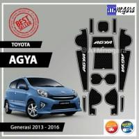 Aksesoris Mobil Door Groove Mat / Anti Slip Rubber Mat Agya