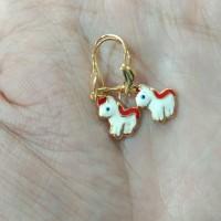 anting anak2 gambar kuda poni 0,5 gram emas muda