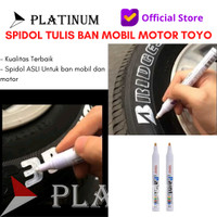 SPIDOL BAN ORIGINAL MOBIL MOTOR TOYO MARKER PAINT WARNA PUTIH