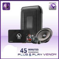 PAKET AUDIO MOBIL FULL VENOM 3 way Pro 3way SUBWOOFER+SPLIT+PROCESSOR