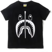 BAPE Crystal Stone SWAROVSKI Shark T-Shirt Black - Limited Edition