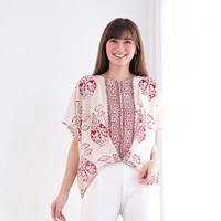 Atasan Batik Wanita. Blouse Batik wanita merah putih - Lathi gunungan