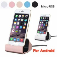 Promo Stand Dock Charger Hp Android Type Micro USB -150 gr Diskon