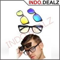 Kacamata Ask Vision 3 in 1 Lensa Magnet Magic Sunglasses