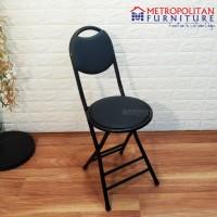 Kursi Lipat Impor / Kursi Makan Bulat / Bangku Belajar / Folding Chair