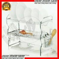 Rak Piring 2 Susun Dish Drainer Tirisan Gantung Stainless Steel 7753