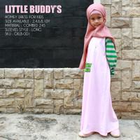 Baju Gamis Busana Muslim Anak Perempuan Combed 24s Alt Afrakids GALB01 - 2T