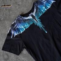 Kaos MARCELO BURLON Wing Basic Black Turquoise FW20 - XS