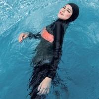 LEE VIERRA Fabe Burqini Swimsuit Baju Renang Muslim Wanita - Tanpa Hijab, XL