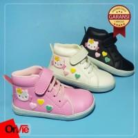 Onvie Sepatu Boot Anak Perempuan Motif Hati Hello Kitty Lucu trendy