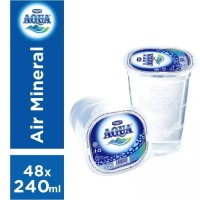 Aqua 240ml (gelas)1 dus (pengiriman pake gojek- go send )