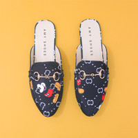AMI FLATS SHOES MICKEY MOUSE