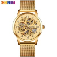 Jam Tangan Pria Analog SKMEI 9199 GOLD WaterResist 30m