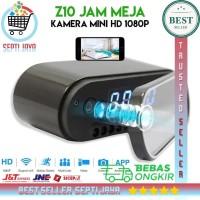 Z10 JAM MEJA KAMERA MINI HD 1080P SPY CLOCK INFRARED NIGHT VISION WIFI