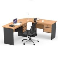 meja kantor meja kerja L powell meja utama 100CM beech