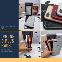 iphone 8 plus 64gb second ex inter fullset - grey mulus