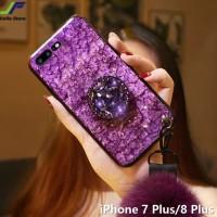 case glitter iphone 8 plus softcase bling marmer foil emas